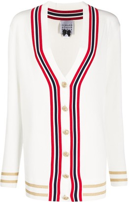 Edward Achour Paris Button-Up Long Sleeve Cardigan