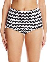 Seafolly Women's Mod.Com High Waisted Pant Bikini Bottom