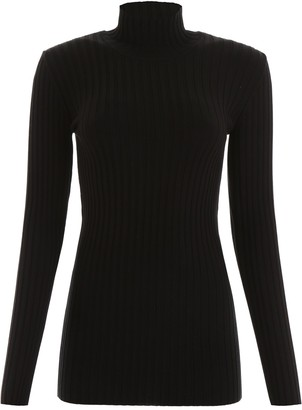 Paco Rabanne Ribbed Turtleneck Sweater
