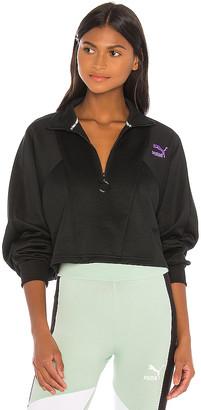 Puma TFS Cropped Half Zip Sweatshirt