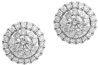 Effy 14K White Gold Diamond Stud Earrings