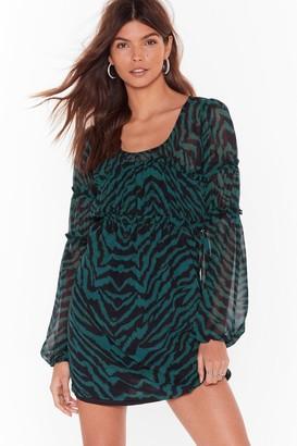 Nasty Gal Womens You Were Wild Once Zebra Mini Dress - Black