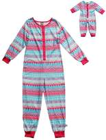 Dollie & Me Girls 4-14 Fairisle One-Piece Pajama Set