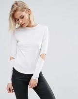 New Look Split Elbow Long Sleeve Top