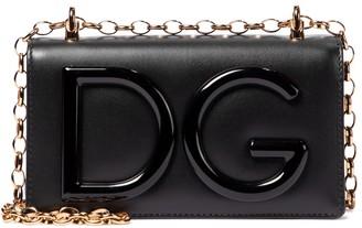 Dolce & Gabbana Logo Small leather crossbody bag