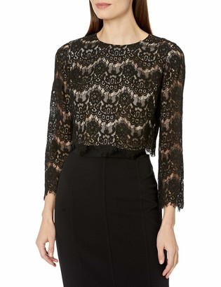 Brinker & Eliza Women's Lace Top with Long Sleeves