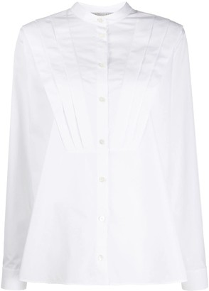 Stella McCartney Tuck-Detail Long-Sleeve Shirt