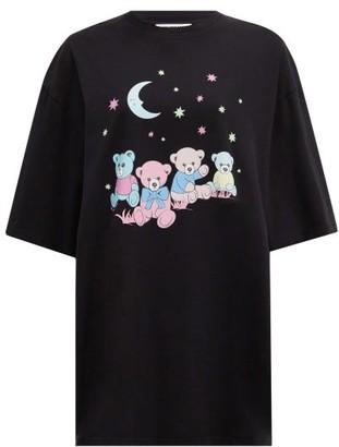 Balenciaga Love Bear-print Cotton-jersey T-shirt - Black