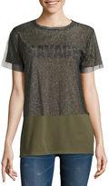 Arizona Savage Mesh Graphic T-Shirt- Juniors