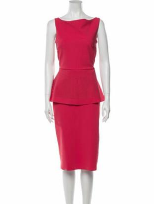 Chiara Boni Bateau Neckline Midi Length Dress w/ Tags Pink