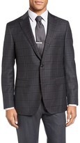 Pal Zileri Men's Classic Fit Plaid Wool Sport Coat