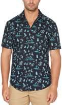 Cubavera Big & Tall Miniature Caribbean Print Shirt