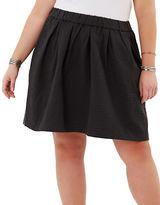 Junarose Pleated Skater Skirt