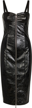 Rotate by Birger Christensen Kayla Fitted Faux Leather Dress