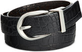 Style&Co. Style & Co. Reversible Croco-Embossed Skinny Belt, Only at Macy's