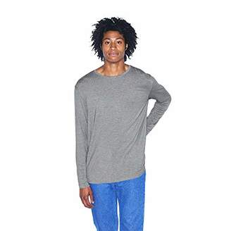 American Apparel Men's Mix Modal Long Sleeve Crewneck
