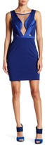 Minuet Mesh Detailed Fitted Mid Dress