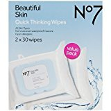 Boots No7 Quick Thinking Wipes - Value Pack by
