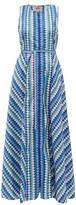 Le Sirenuse Le Sirenuse, Positano - Ornella Que Ondra Printed Cotton Dress - Womens - Blue Multi