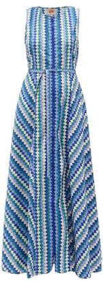Le Sirenuse, Positano - Ornella Que Ondra Printed Cotton Dress - Blue Multi