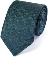 Charles Tyrwhitt Forest Green Silk English Luxury Geometric Tie