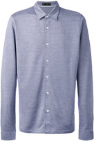 Corneliani slim-fit shirt - men - Silk/Cotton - 48