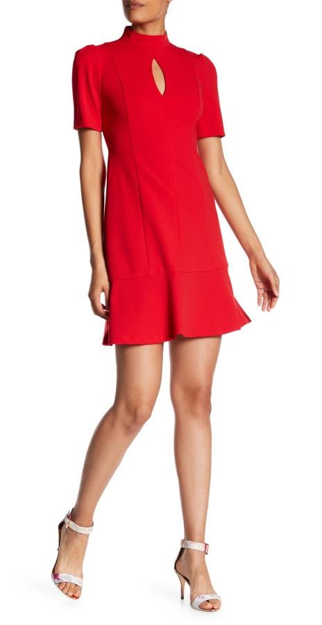 Donna Morgan Drop Waist Crepe Dress