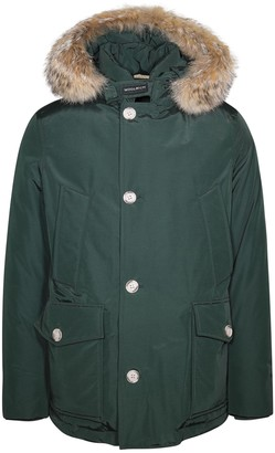 Woolrich Fur Trim Hooded Arctic Coat