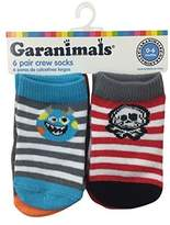 Garanimals ® Boys Stripe 6 Pack Crew Socks 0-6 Months