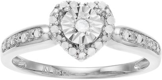Sterling Silver Diamond Accent Heart Promise Ring
