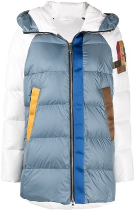 Peuterey Upcycle colour-block puffer jacket