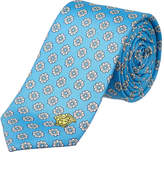 Versace Blue Medallion Silk Tie