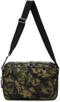 Alexander McQueen Green Camo Messenger Bag