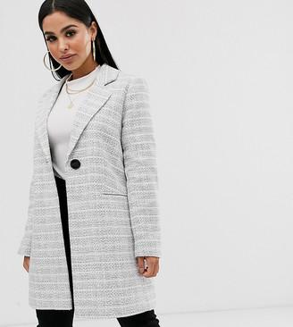 ASOS DESIGN Petite textured coat with button detail