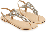 Monsoon Taylor Embellished Thong Sandals