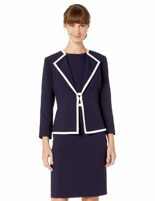 Le Suit LeSuit Women's Piped Crepe Dress Suit
