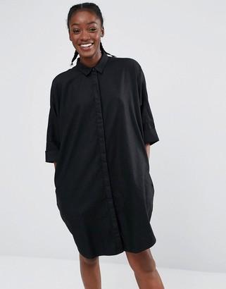 Monki Oversized Denim Shirt Dress