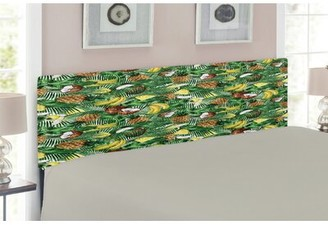 East Urban Home Tropical Upholstered Panel Headboard Size: Queen