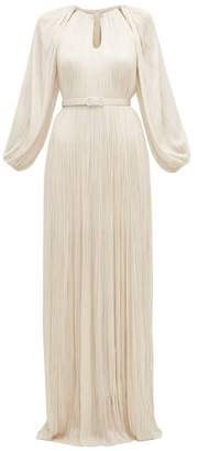 Maria Lucia Hohan Lee Pleated Silk Tulle Maxi Dress - Womens - Ivory