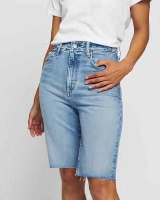 Nobody Denim Women's Blue Denim - Frankie Bermuda Shorts - Size 26 at The Iconic