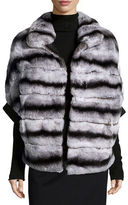 Gorski Rabbit Fur Zip-Front Jacket