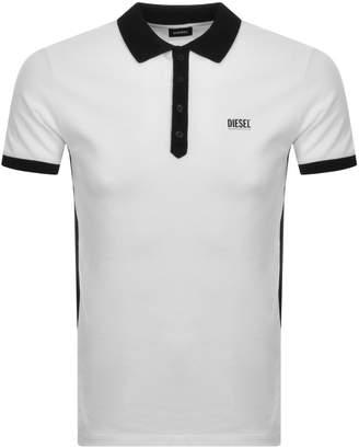 Diesel T Skatt Polo T Shirt White