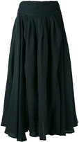 Black Crane Wrap skirt - women - Linen/Flax - S