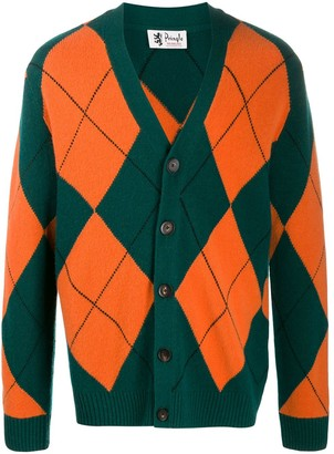 Pringle Reissued argyle knit cardigan