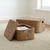 Crate & Barrel Kelby Rectangular Lidded Baskets