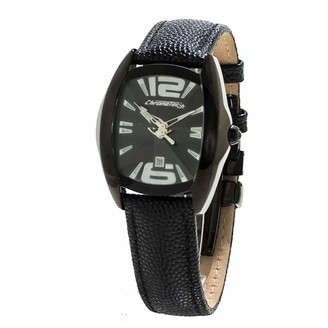 Chronotech Womens Analogue Quartz Watch with Leather Strap CT7814L-01