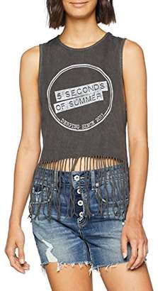 5 Seconds Of Summer Women's Derping Stamp Vintage Vest Top,14 (Size: X-Large)