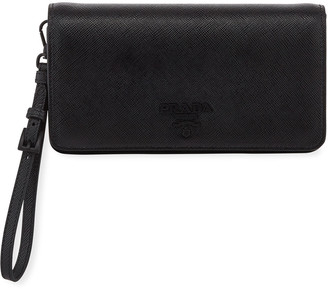 Prada Saffiano Mini Bag w/ Removable Wristlet and Crossbody Straps