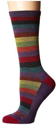 Darn Tough Vermont Phat Witch Light Cushion Socks (Plum) Women's Crew Cut Socks Shoes