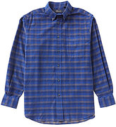 Roundtree & Yorke Casuals Long Sleeve Plaid Corduroy Sportshirt